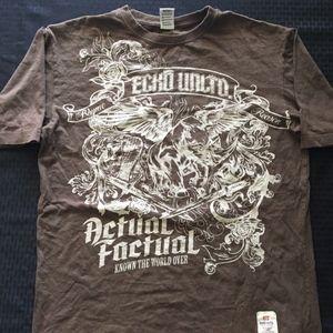 Ecko Unltd. Men's Graphic T-Shirt Brown Sz: XL